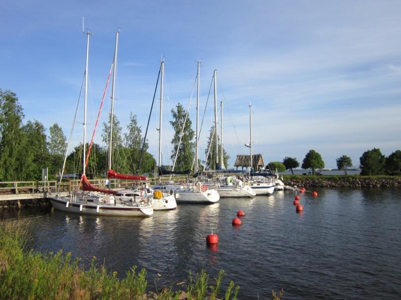 One of Hamina's boat harbors